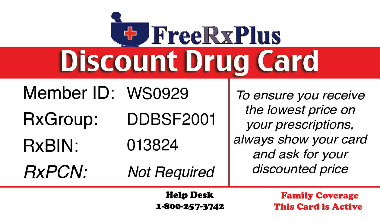 after you fill out the form to the right and while youre waiting for your free card to arrive by mail you can print an active free card and start using it - Free Prescription Card